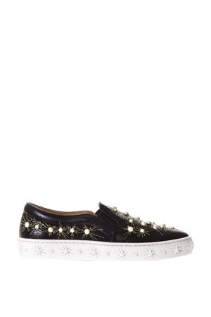 COSMIC PEARLS LEATHER SLIP-ON SNEAKERS FW 2017 AQUAZZURA | 55 | COSVNS01NAP000