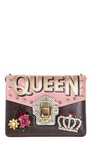 LUCIA PINK LEATHER EMBELLISHED BAG FW17 DOLCE & GABBANA | 2 | BB6310AH1898E485