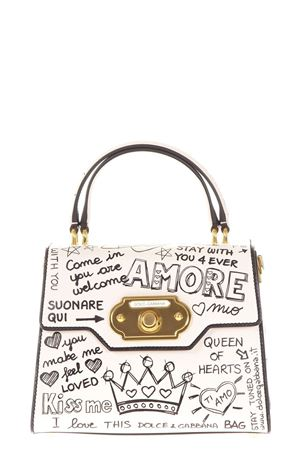 WELCOME GRAFFITI PRINTED LEATHER BAG FW 2017 DOLCE & GABBANA | 2 | BB6374AH1978S469
