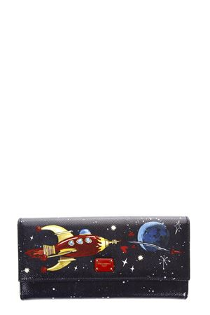 SPACE PRINT DAUPHINE LEATHER WALLET FW 2017 DOLCE & GABBANA | 34 | BI0087AI816HBH50