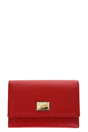 DAUPHINE RED LEATHER WALLET FW 2017 DOLCE & GABBANA | 34 | BI0924A100180303
