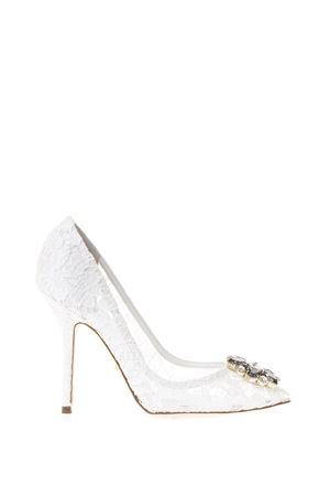 TAORMINA LACE OPEN TOE COURT SHOES WITH EMBROIDERY FW 2017 DOLCE & GABBANA | 68 | CD0112AL1988B930