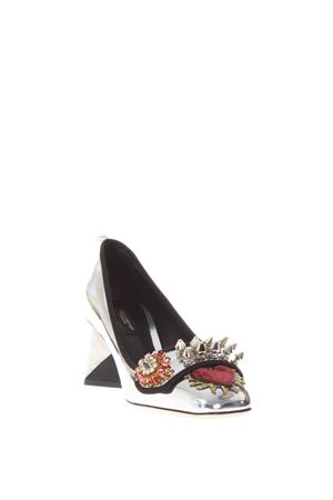 JACKIE EMBELLISHED MIRROR LEATHER PUMPS FW 2017 DOLCE & GABBANA | 68 | CD0843AM4128B808