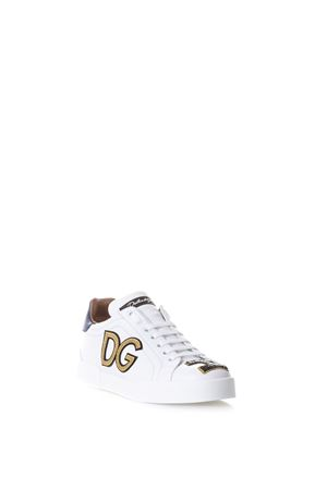SNEAKERS IN PELLE CON PATCHES AI 2017 DOLCE & GABBANA | 55 | CK0150AH0698B932