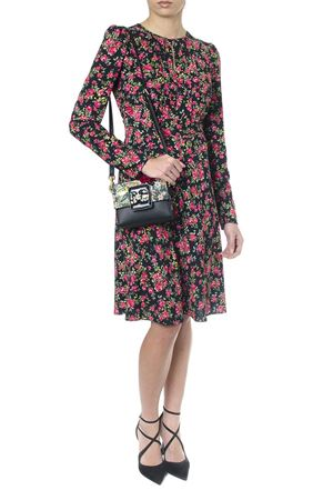 FLORAL PRINTED SABLE DRESS SS 2018 DOLCE & GABBANA | 32 | F65V9TFSM4DHN788