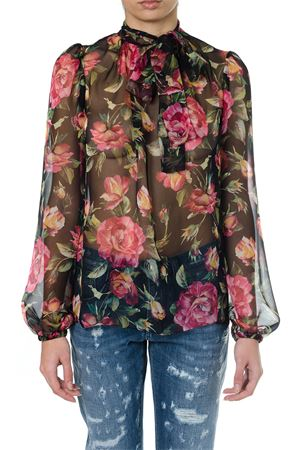 ROSES PRINTED SILK BLOUSE SS 2018 DOLCE & GABBANA | 13 | F7ZZJTHS1NKHNE10