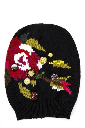 APPLIQUÉ ON WOOL HAT FW 2017 DOLCE & GABBANA | 17 | FRH01ZF89AOS9007