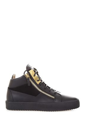 LEATHER SNEAKERS WHIT GOLD DETAILS FW 2017 GIUSEPPE ZANOTTI | 55 | RU70067BIREL002