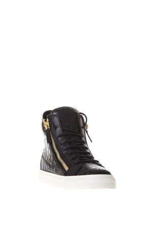 EMBOSSED LEATHER HIGH-TOP SNEAKERS FW 2017 GIUSEPPE ZANOTTI | 55 | RW6018AFTERING002