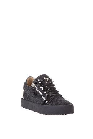 GLITTER LEATHER ZIPPED SNEAKERS fw 2017 GIUSEPPE ZANOTTI | 55 | RW70005LOGOBALL005