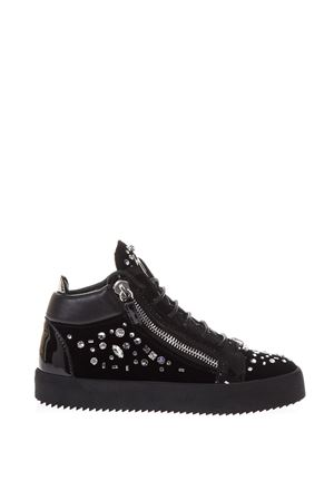 EMBELLISHED SUEDE HIGH-TOP SNEAKERS FW 2017 GIUSEPPE ZANOTTI | 55 | RW70105VERONICA003