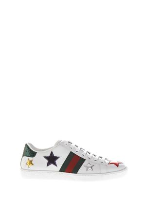 ACE LEATHER SNEAKERS WITH STARS DETAIL FW 2017 GUCCI | 55 | 454562DOP509076
