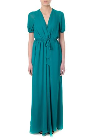 EMERALD SILK WRAP-STYLE LONG DRESS SS 2018 LANVIN | 32 | RW-DR365U3744481