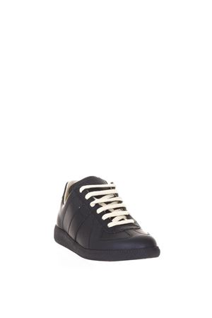 REPLICA LOW-TOP LEATHER SNEAKERS fw 2017 MAISON MARGIELA | 55 | S58WS0058SY0858900