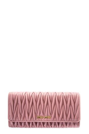 CONTINENTAL QUILTED LEATHER WALLET FW 2017 MIU MIU | 34 | 5MH109N88F0028