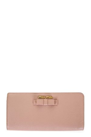 MADRAS LEATHER WALLET WITH BOW FW 2017 MIU MIU | 5 | 5ML0103R7F0615