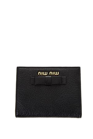 LEATHER WALLET WITH BOW AND LOGO FW 2017 MIU MIU | 34 | 5MV2043R7F0002