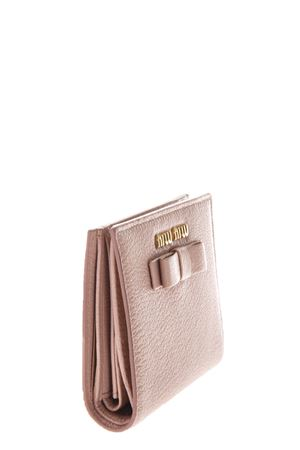 LEATHER WALLET WITH BOW AND LOGO fw 2017 MIU MIU | 34 | 5MV2043R7F0615