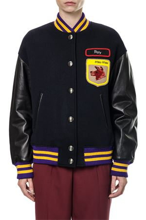 BOMBER JACKET WITH PATCHES FW 2017 MIU MIU | 27 | ML4241OGEF0008