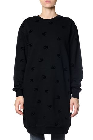 MICRO SWALLOW SWEATSHIRT DRESS FW 2017 McQ ALEXANDER MCQUEEN | 32 | 379194RIT141000