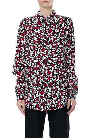 HEARTS PRINTED SILK SHIRT FW 2017 SAINT LAURENT | 9 | 465896Y600Q1679