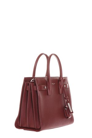 SMALL SAC DE JOUR SOUPLE BAG IN DARK RED GRAINED LEATHER FW 2017 SAINT LAURENT | 2 | 477477DTI0E6219