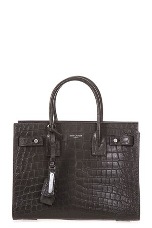 SMALL SUPPLE SAC DE JOUR BAG IN CROCODILE EMBOSSED LEATHER fw 2017 SAINT LAURENT | 2 | 477478DZE0E2406