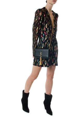 MINI DRESS IN MULTICOLOR SILK AND LAMÉ FW 2017 SAINT LAURENT | 32 | 481404Y443R1085