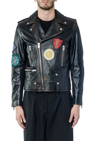 GIACCA BIKER IN PELLE MULTI PATCH ai 2017 SAINT LAURENT | 27 | 483224YC1EP3761