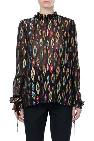 SILK BLOUSE WITH MULTICOLOURED LUREX fw 2017 SAINT LAURENT | 13 | 484734Y443R1085