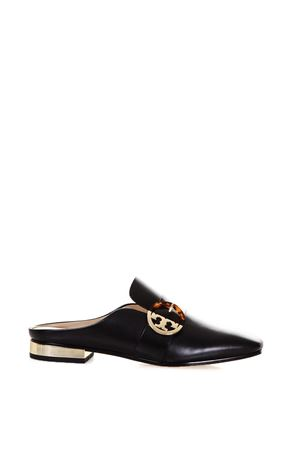 LOGO LEATHER MULES FW 2017 TORY BURCH | 110000060 | 37969SIDNEY BACKLESS LOAFER001