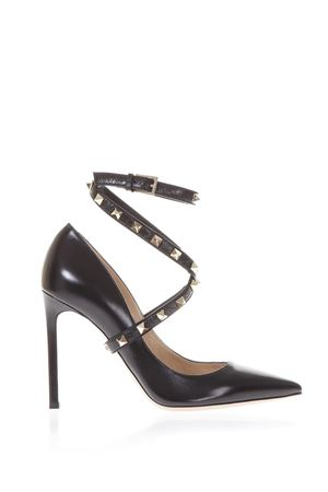 105MM STUDWRAP LEATHER PUMPS FW 2017 VALENTINO GARAVANI | 68 | NW2S0E13CBL0NO