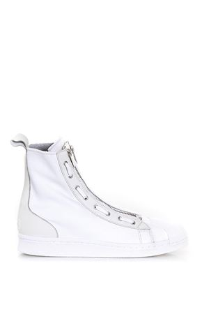 PRO ZIP HIGH-TOP LEATHER SNEAKERS FW 2017 ADIDAS Y-3 | 55 | CG3183PRO ZIPWHT