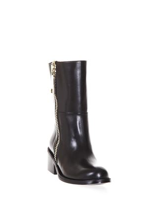 BLACK LEATHER BIKER BOOTS FW 2017 ALDO CASTAGNA | 52 | 117DALIA15NERO