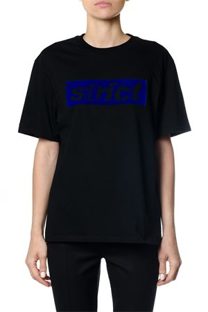 BOXY CREW NECK T-SHIRT WITH STRICT PATCH FW 2017 ALEXANDER WANG | 15 | 1W271175M1BOXY CREW044