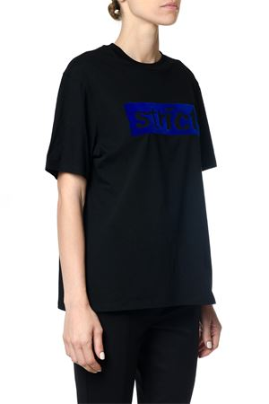 BOXY T-SHIRT GIROCOLLO CON PATCH STRICT AI 2017 ALEXANDER WANG | 15 | 1W271175M1BOXY CREW044