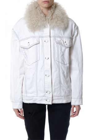 BOYFRIEND DENIM JACKET WITH FUR FW 2017 ALEXANDER WANG | 14 | 1W373011P6BOYFRIEND001