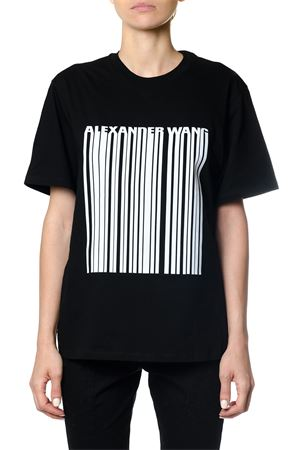 EXCLUSIVE T-SHIRT WITH BONDED BARCODE FW 2017 ALEXANDER WANG | 15 | 1W991205M1BOXY CREW044