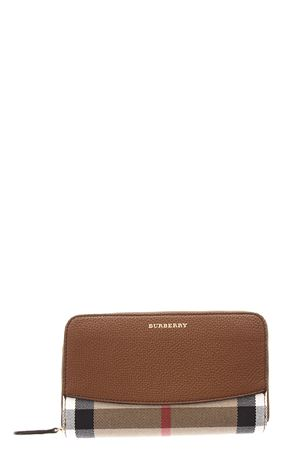 LEATHER & CHECK PRINTED WALLET fw 20107 BURBERRY | 34 | 3975338199