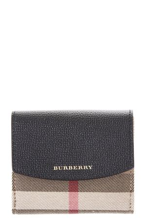 LEATHER & HOUSE CHECK FABRIC WALLET FW 2017 BURBERRY | 34 | 4048260109