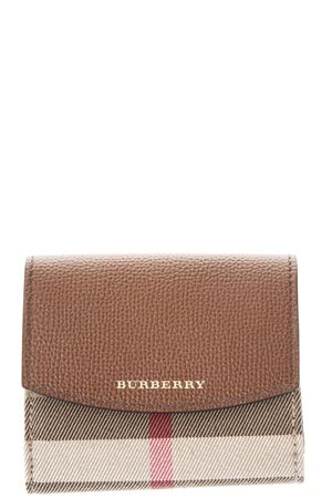 LEATHER & HOUSE CHECK FABRIC WALLET fw 2017 BURBERRY | 34 | 4048265109