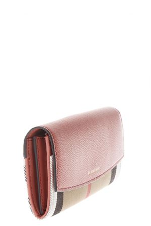 LEATHER & CHECK HOUSE FABRIC CONTINENTAL WALLET fw 2017 BURBERRY | 34 | 4050074109