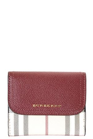 LEATHER & CHECK HOUSE FABRIC WALLET FW 2017 BURBERRY | 34 | 4059634109