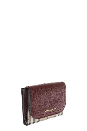 LEATHER & HOUSE CHECK FABRIC WALLET FW 2017 BURBERRY | 34 | 4059835109