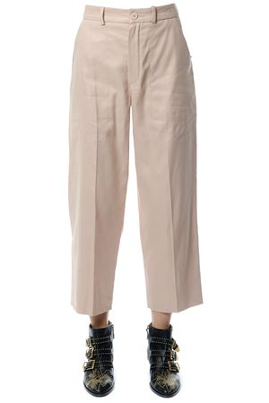 CROPPED LENGTH LINEN-COTTON BLEND TROUSERS FW 2017 CHLOÉ | 8 | 17EPA5817E046NR6H5