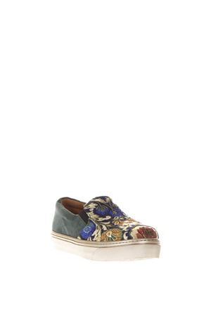 SLIP ON IN TESSUTO BROCCATO E CAMOSCIO AI 2017 CORAL BLUE | 55 | CB.K317.04SLIP ON BAROQUE BLUE
