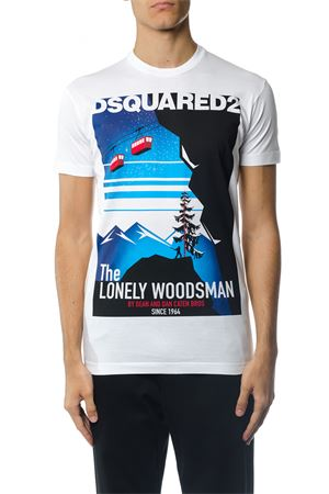T-SHIRT \LONELY WOODSMAN\ IN COTONE AI 2017 DSQUARED2 | 15 | S71GD0559S22427100