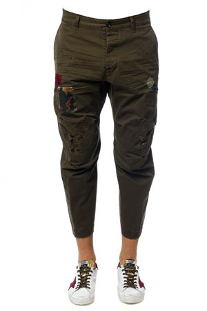HIKING COTTON PATCHES TROUSERS FW 2017 DSQUARED2 | 8 | S74KB0060S41794710