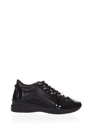 PATENT & LEATHER 551 SNEAKERS FW 2017 DSQUARED2 | 55 | W17K501081NERO