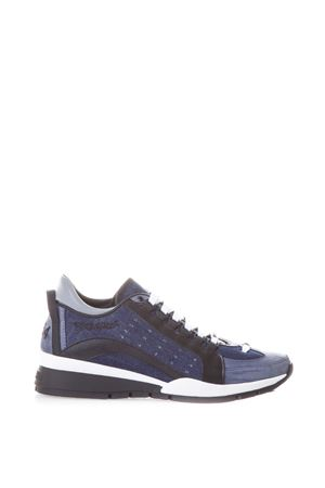SNEAKER 551 IN PELLE E DENIM AI 2017 DSQUARED2 | 55 | W17SN4041304M132